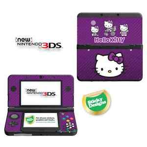 Hello Kitty Vinyl Skin Sticker for NEW Nintendo 3DS (with C Stick) - Purple