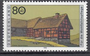 BRD 1995 Mi. Nr. 1819 Postfrisch mit Druckauffälligkeit Loch im Dach (29947)