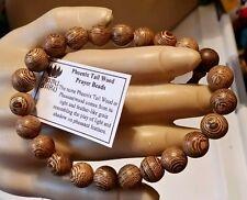 Phoenix Tail Wood Wrist Mala Prayer Bracelet - 10mm #41034