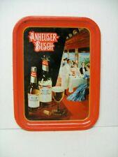 Unique 1987 Anheuser Busch Budweiser Beer Metal Tray 1904 World's Faiur Scene
