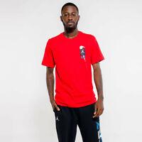 Nike Air Jordan Legacy AJ4 Short Sleeve T-Shirt Red Black CQ8297-657 Men's NWT