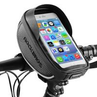 RockBros Black Bike Bicycle Handlebar Bag Waterproof Fit Below 6 Inches Phone