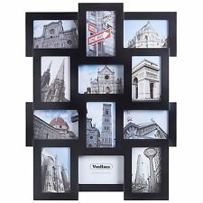 VonHaus 12x Collage Picture Frames 4x6 Photos Family Home Wall Hanging - Black