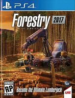Forestry 2017: The Simulation - Sony PlayStation 4 [PS4 Standard Edition] NEW