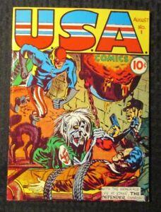 1970s FLASHBACK #3 FN 6.0 Reprint USA Comics #1 The Defender