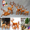 Cute Christmas Deer Simulation Reindeer Ornaments Room Decoration Party Decor