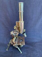 "antique 16"" brass microscope J Swift & Son London Patent 24960 ""Best Portable"""