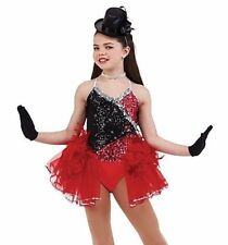42nd Street Dance Costume with Mitts Ballet Tap Jazz Dress Clearance Child Small