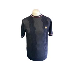 Gabicci Vintage V46GM12 Newman Navy Blue Knitted T Shirt ,Mod,60s,70s,SALE