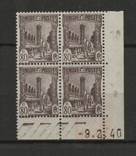 Tunisie RF Y&T N° 210 4 timbres neufs coin daté 9.2.40 /T3542