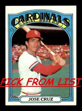 1972 Topps 2-199 EX/EX-MT Pick From List All PICTURED