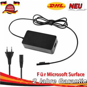 65W AC Netzteil Ladegerät Ladekabel Adapter für Microsoft Surface Pro 3 4 5 Book