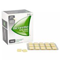 3 Packs of Nicorette Original Flavour Sugar-Free Gum 4mg Nicotine 210 Pieces