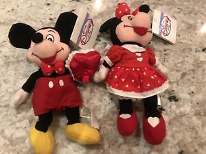 Valentine Mickey And Minnie Mouse Bean Bag Beanies