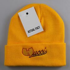 Wucci Wu Tang Clan Roll Up Yellow Beanie Hat by Actual Fact