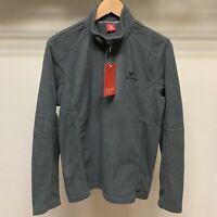 Half Zip Pullover Mens Long Sleeve Polar Fleece Jacket Camel Crown Size S NWT