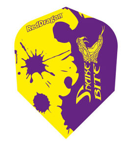 Dart Red Dragon Peter Wright Purple Snakebite - Yellow Flights Stückzahl wählbar