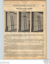 1936 PAPER AD Milbradt Rolling Store Library Wheeled Ladder Ladders 3 Models