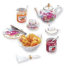 REUTTER PORZELLAN PETIT petit-déjeuner Continental Set Maison de poupée 1:12