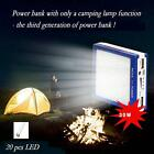 50000mAh Dual USB Solar Panel Battery Charger Power Bank W/ LED light Practica