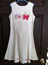 NWT GIRLS LINEN/COTTON BLEND DRESS BLUEBERI BOULEVARD 12