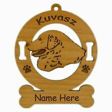 Kuvasz Head Dog Ornament Personalized With Your Dogs Name 3469