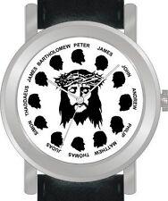 """Jesus Christ & The Twelve Apostles"" - Unisex Size Chrome Case And Black Strap"