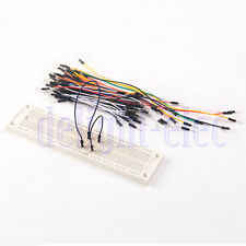 700 TiePoints Solderless PCB Bread Board with 65pcs Jumper Wires for Arduino DH