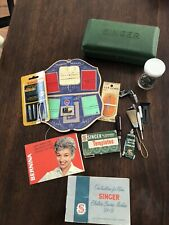 1950's Singer Sewing Machine Buttonholer + Xtra Templates, Various Accessories