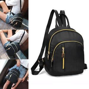 Waterproof Mini Backpack Women Purse Nylon Shoulder Rucksack Small Travel Bag u