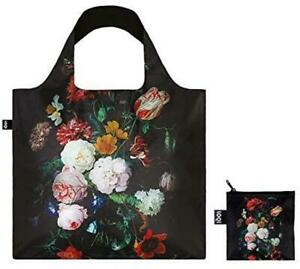 Reusable LOQI Shopping Tote De Heem Still Life with Flowers Bag inc carry pouch