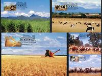 1998 Farming Maxi Cards Prepaid Postcard Maxicards Stamps