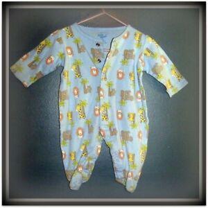 Baby B'gosh, blue print boys romper/sleepsuit, age 3 months