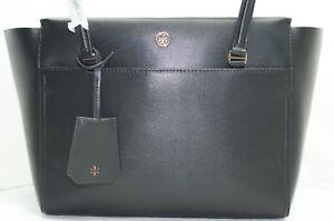 New Tory Burch Bag Parker Small Tote Black Satchel Handbag
