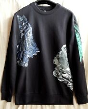 SILENT by DAMIR DOMA BLACK PRINTED SWEATSHIRT SIZE XS