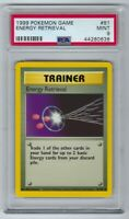 44280638 Mint PSA 9 ENERGY RETRIEVAL 81/102 │Unlimited │ Base Set Pokemon 1999
