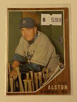 🔥 1962 TOPPS Baseball Card Set #217 🔥 LOS ANGELES DODGERS 🔥 HOF WALTER ALSTON