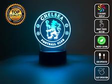 3D Night Light Acrylic Lamp LED Chelsea Football Soccer Premier League Home Dec