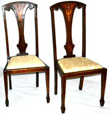 Art Nouveau Mahogany Dining Chairs in Pair(2) - FREE Shipping [PL3353]