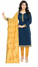 DnVeens Women Heavy Embrodery Dupatta Unstiched Salwar Suit Dress Material