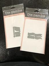 New listing My Favorite Things Die-Namics Lot Wavy Banners & Pennants Dies Flag Label Signs