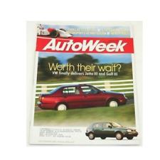 AutoWeek Magazine August 16 1993 VW Jetta Golf III MK3 Release Corrado SLC
