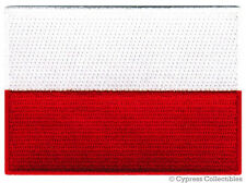 POLAND FLAG embroidered iron-on PATCH POLISH POLSKA new applique emblem