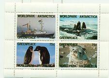 PINGUINI & FOCA - PENGUINS & SEAL GREENPEACE 1986 sheetlet