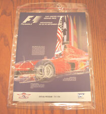 US F1 Formula 1 Grand Prix Indianapolis  2000  Program  New Michael Schumacher