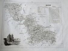 59 Nord gravure carte géographique Monin 1835 (c11-11)