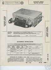 1957 Chevrolet & Ford CTR-77A FTP-37A Radios- Photofact