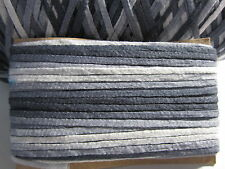 "1/8"" Blue to White Veragated(1006 Shaded Graphite) Cotton Ribbon Yarn - 15 yds"