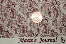 """CIVIL WAR MACIE'S JOURNAL"" REPRODUCTION QUILT FABRIC BTY MARCUS 2367-0111"