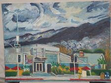 BUILDING AND TRAFFIC LIGHTS, CALIFORNIA - Neo-Impressionist